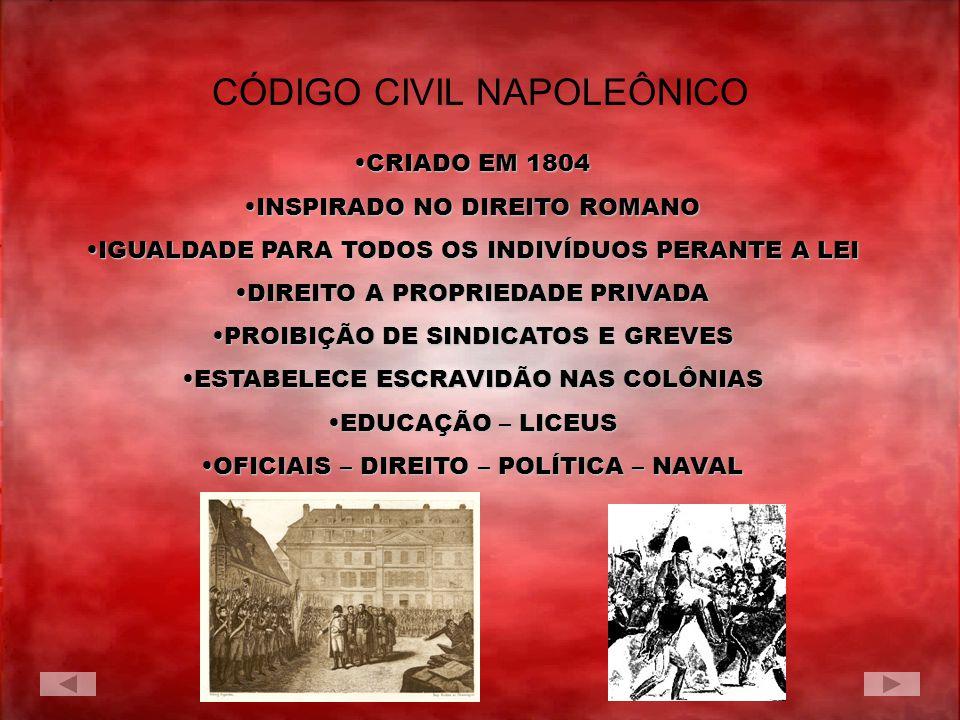 TENTA RÁPIDA OFENSIVATENTA RÁPIDA OFENSIVA CONTRA A 7º COLIGAÇÃOCONTRA A 7º COLIGAÇÃO PERDE NA BATALHA DE WATERLOOPERDE NA BATALHA DE WATERLOO EXILADO NA ILHA SANTA HELENAEXILADO NA ILHA SANTA HELENA MORRE 5 DE MAIO 1821MORRE 5 DE MAIO 1821 OS CEM DIAS