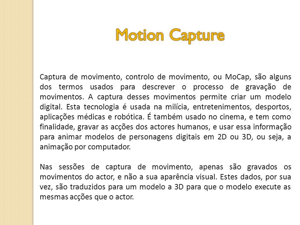 Captura de movimento, controlo de movimento, ou MoCap, são alguns dos termos usados para descrever o processo de gravação de movimentos.
