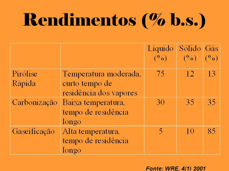 Pirólise Rápida Curto Tempo de Residência dos Vapores no interior do Reator Otimização de Produtos Líquidos