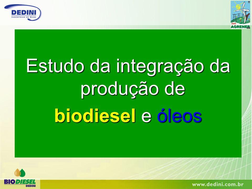 Estudo da integração da produção de biodiesel e óleos