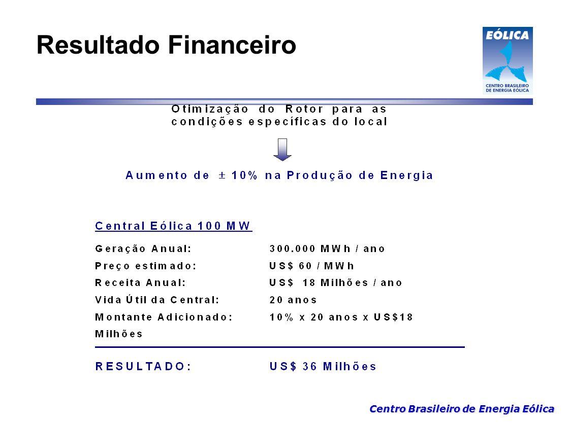 Centro Brasileiro de Energia Eólica Resultado Financeiro