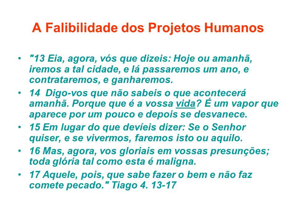 A Falibilidade dos Projetos Humanos