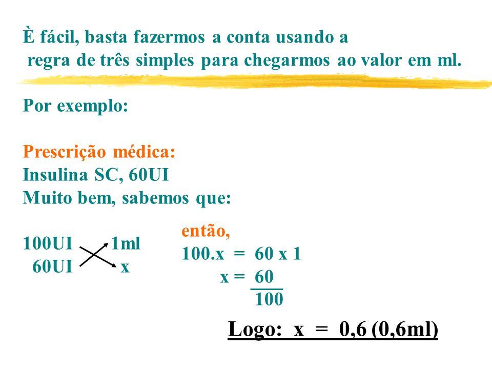 È fácil, basta fazermos a conta usando a regra de três simples para chegarmos ao valor em ml.