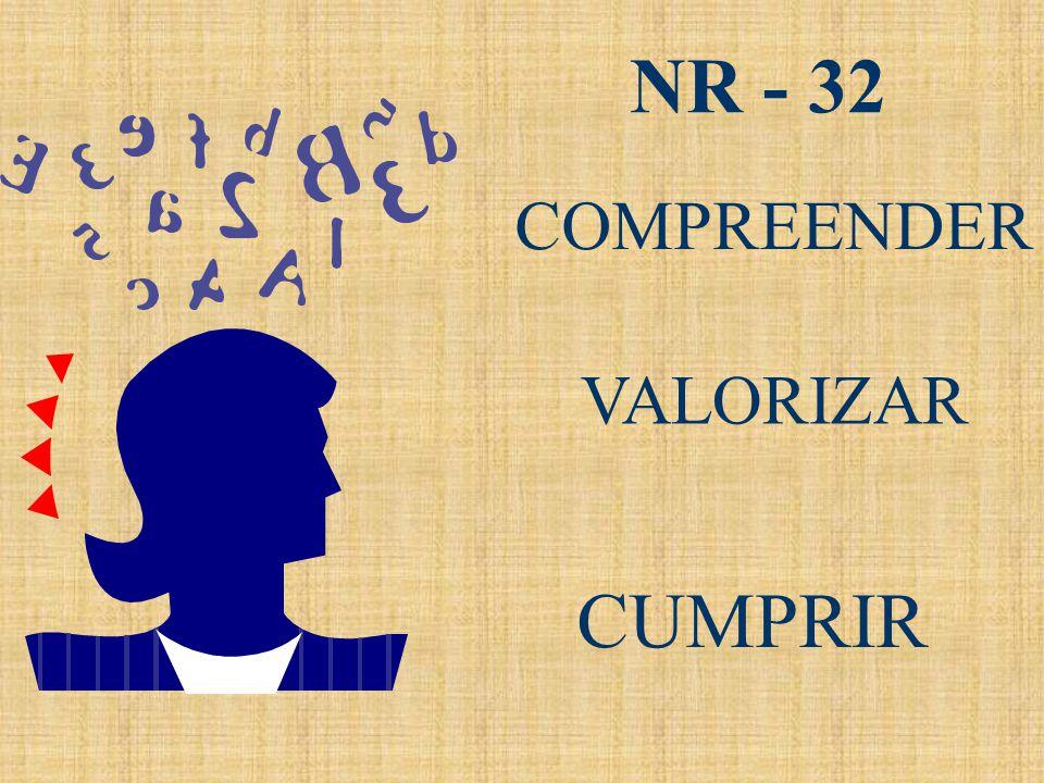 COMPREENDER VALORIZAR CUMPRIR NR - 32