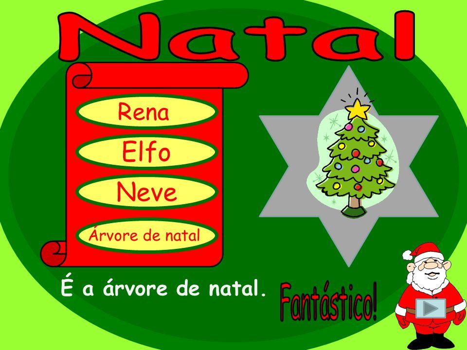 É uma estrela. Estrela Neve Pai Natal Árvore de natal