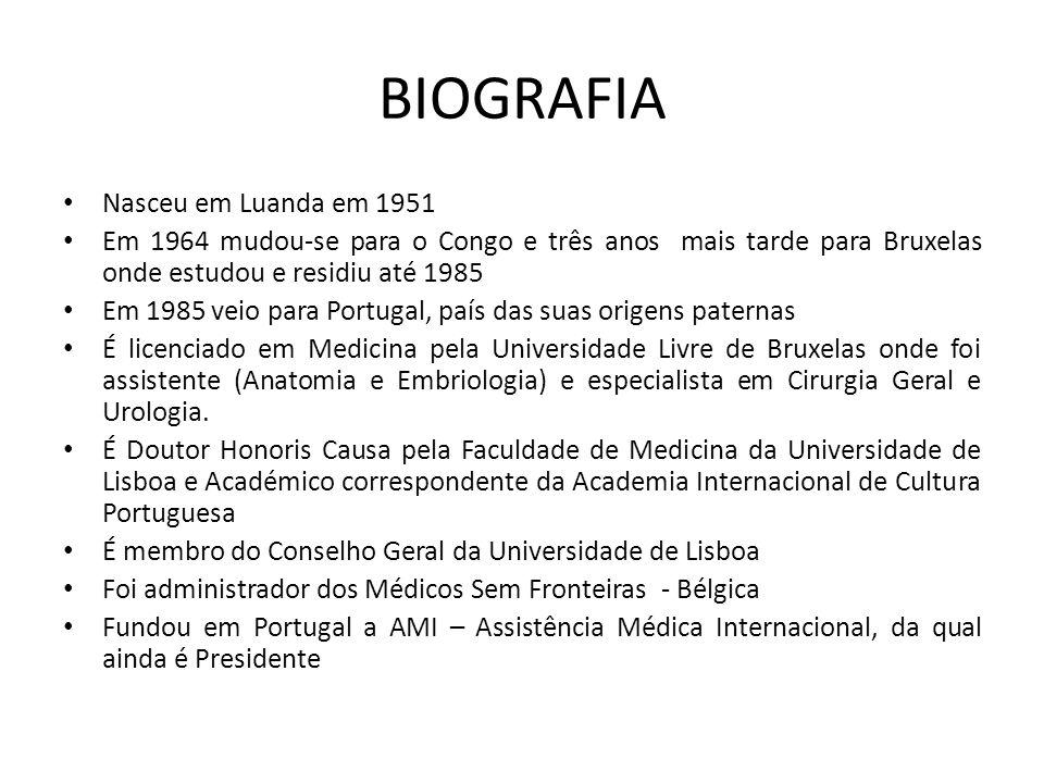 BIOGRAFIA Nasceu em Luanda em 1951 Em 1964 mudou-se para o Congo e três anos mais tarde para Bruxelas onde estudou e residiu até 1985 Em 1985 veio par