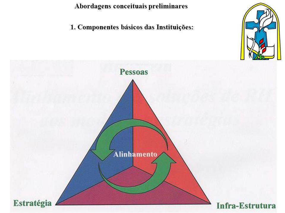 Abordagens conceituais preliminares 1. Componentes básicos das Instituições: Abordagens conceituais preliminares 1. Componentes básicos das Instituiçõ