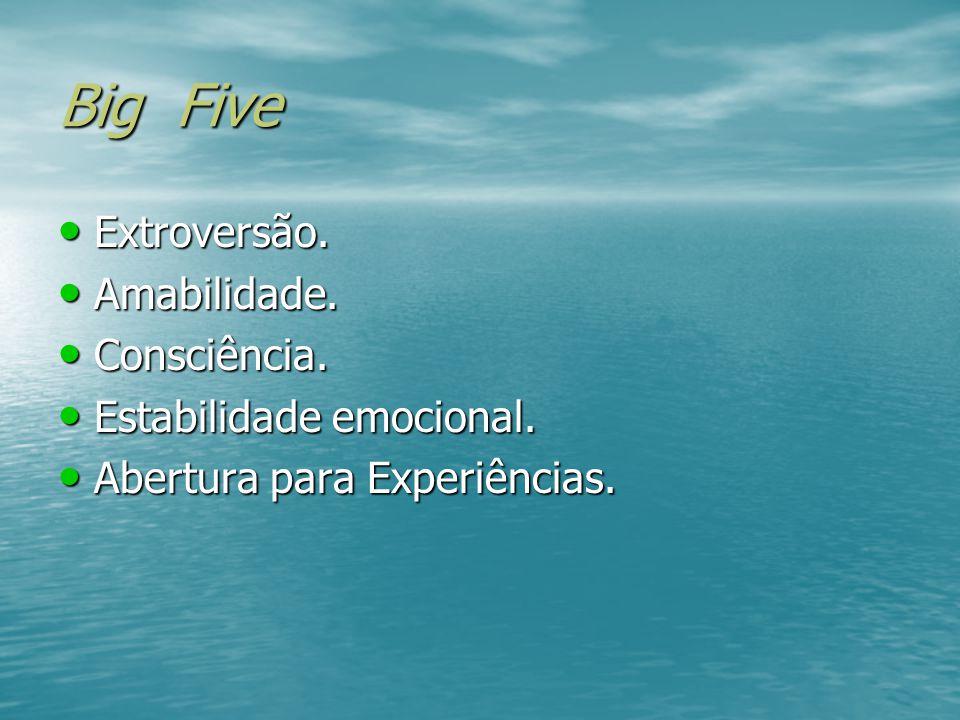 TEORIAS DA PERSONALIDADE Traços: Modelo Big Five – Cinco Fatores.