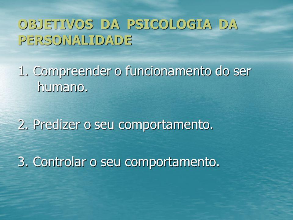 QUESTÕES INICIAIS Como o psicólogo pode compreender a personalidade.