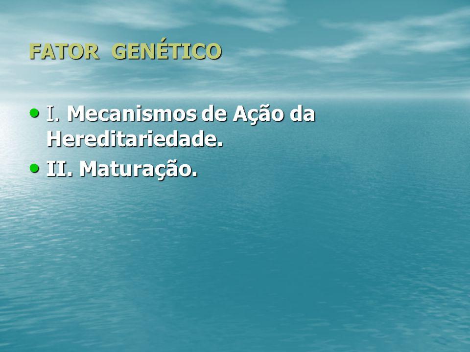 FATORES BIOLÓGICOS I.Fator genético II. Fator fisiológico.