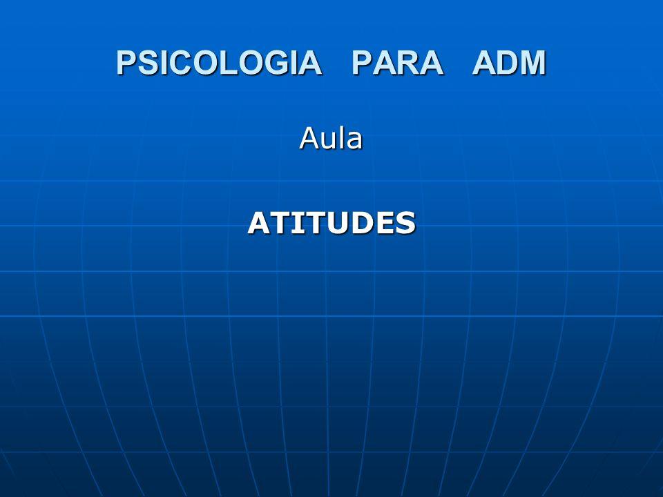 PSICOLOGIA PARA ADM AulaATITUDES