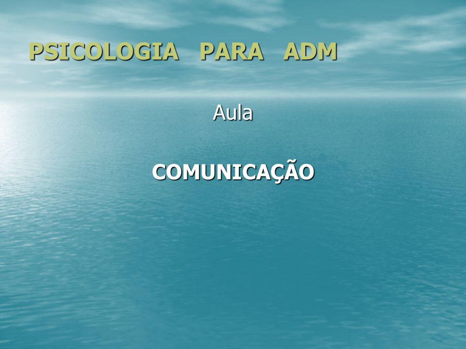 PSICOLOGIA PARA ADM AulaCOMUNICAÇÃO