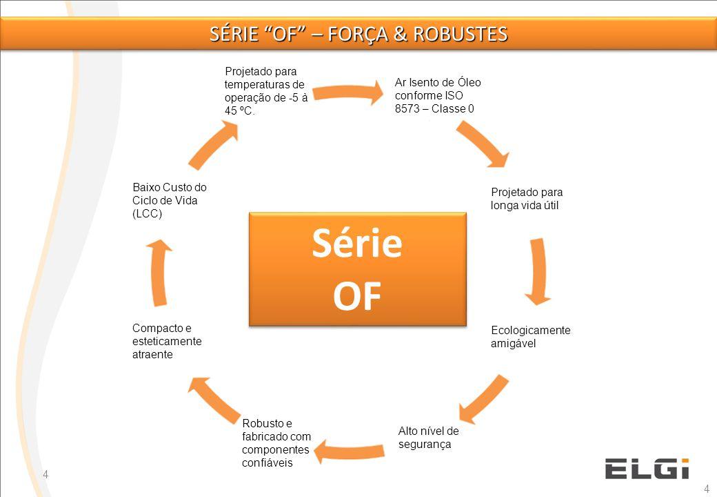 5 Fornece alta qualidade de ar comprimido para a demanda de aplicações, tais como, Alimentos & Bebidas, Farmacêutica, Indústrias Eletrônicas, Instrumentação e etc.
