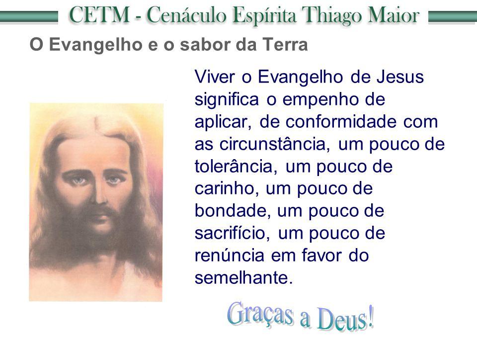 O Evangelho e o sabor da Terra Viver o Evangelho de Jesus significa o empenho de aplicar, de conformidade com as circunstância, um pouco de tolerância