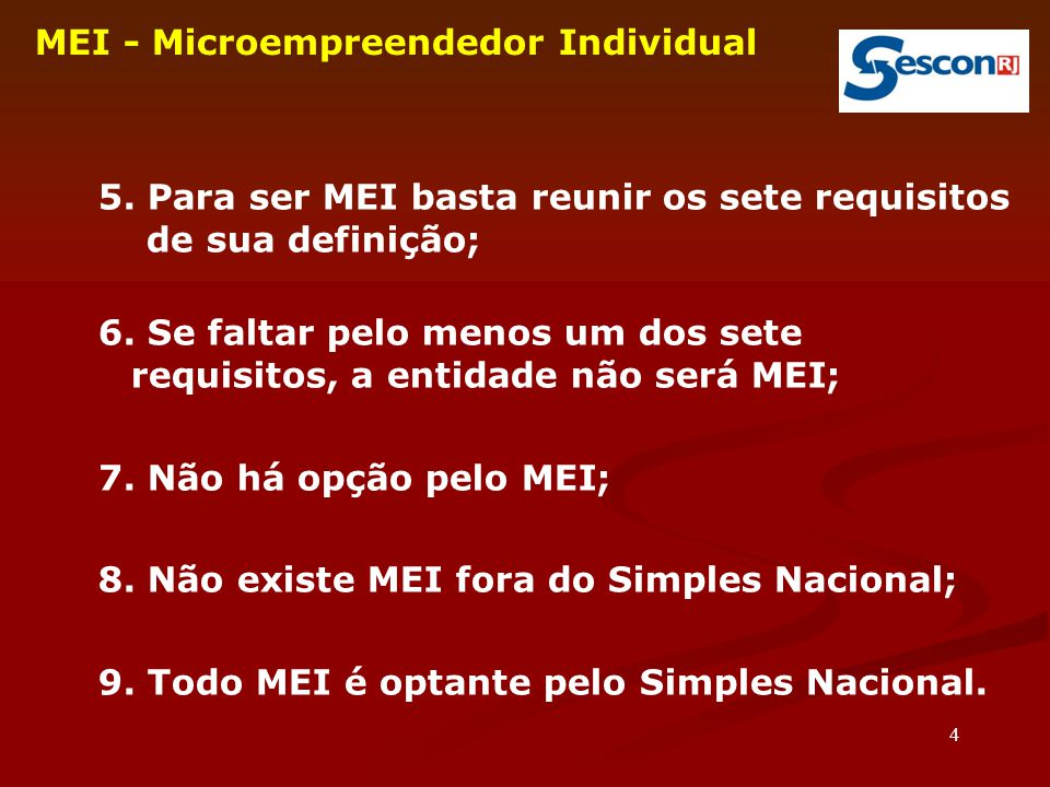 35 MEI - Microempreendedor Individual 36.
