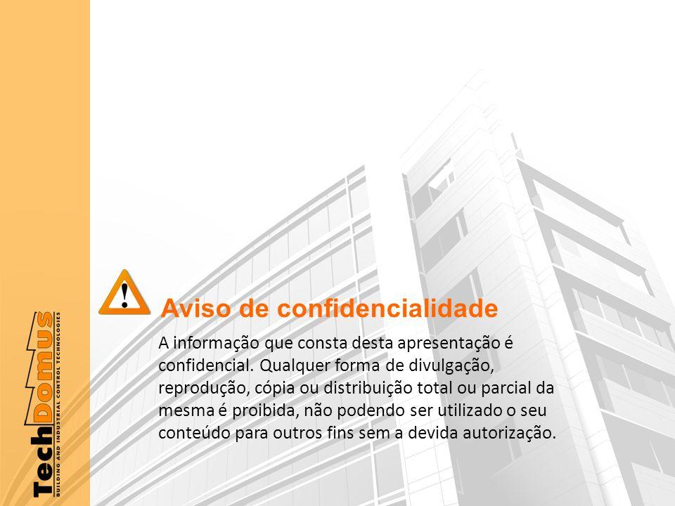 Aviso de confidencialidade A informação que consta desta apresentação é confidencial.