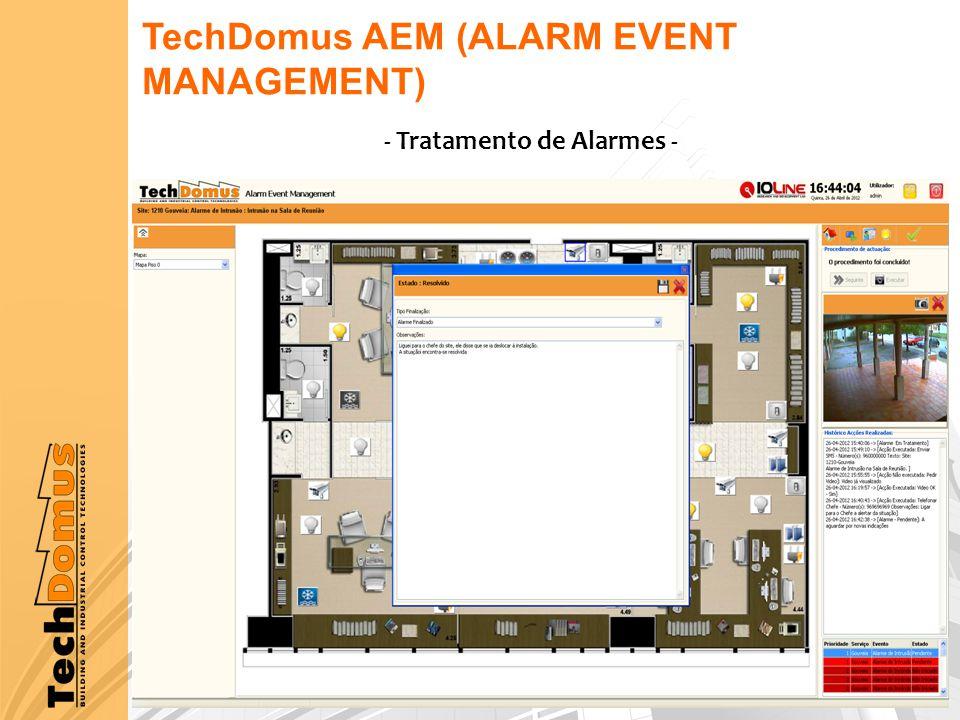 TechDomus AEM (ALARM EVENT MANAGEMENT) - Tratamento de Alarmes -