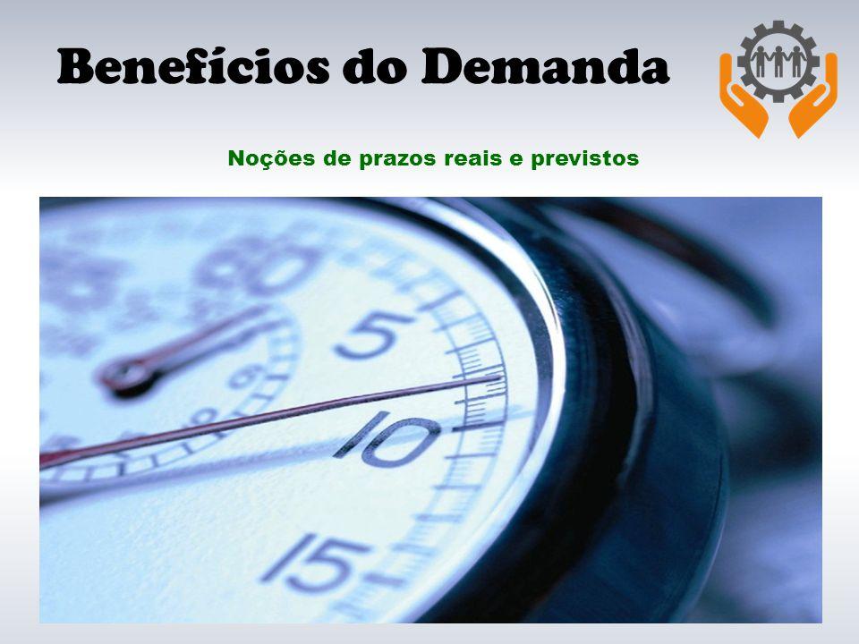 Benefícios do Demanda Noções de prazos reais e previstos