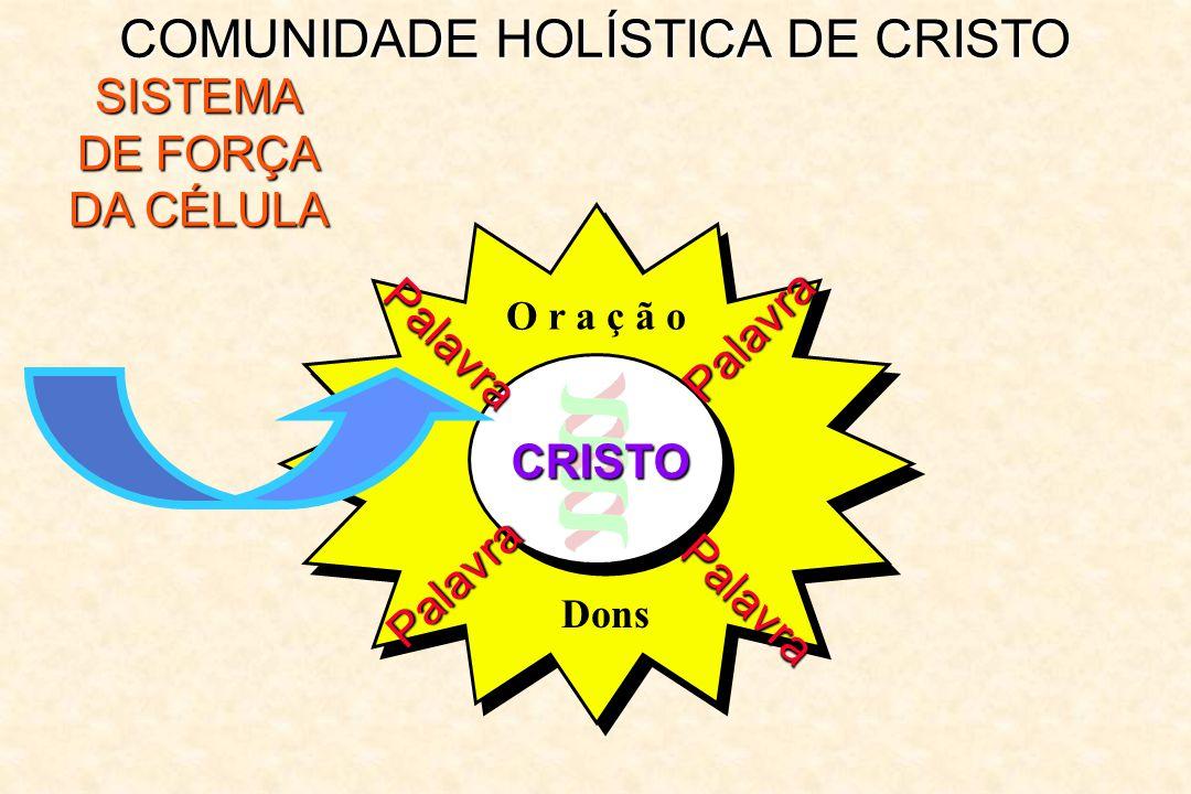 COMUNIDADE HOLÍSTICA DE CRISTO SISTEMA DE FORÇA DA CÉLULA Palavra Palavra Palavra Palavra O r a ç ã o Dons CRISTO