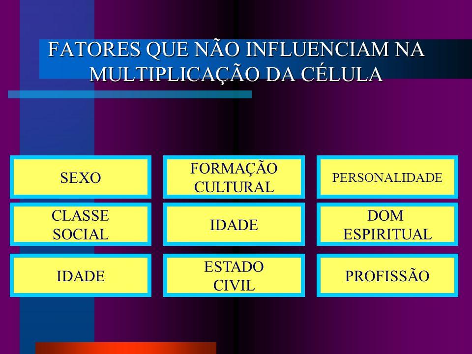 FATORES DE INFLUÊNCIA NA MULTIPLICAÇÃO DA CÉLULA LEMBRE-SE.