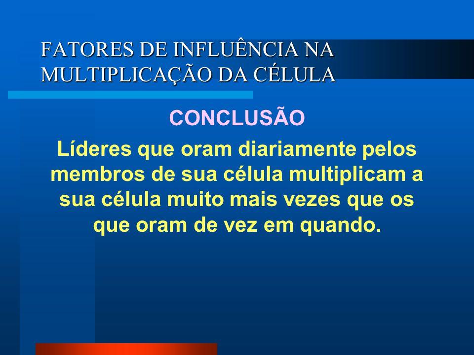 FATORES DE INFLUÊNCIA NA MULTIPLICAÇÃO DA CÉLULA ESTABELECIMENTO DE ALVOS.