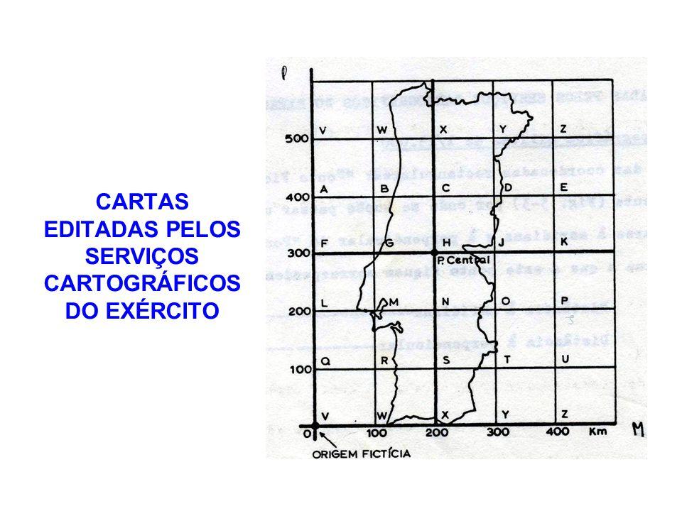 CARTAS EDITADAS PELOS SERVIÇOS CARTOGRÁFICOS DO EXÉRCITO