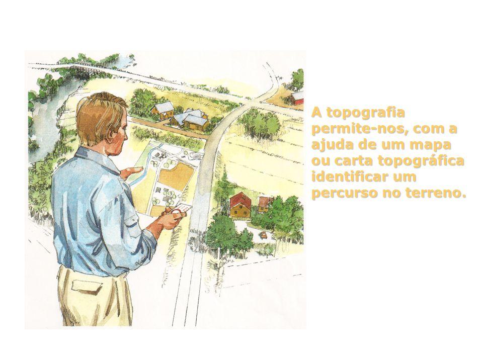 A topografia permite-nos, com a ajuda de um mapa ou carta topográfica identificar um percurso no terreno.