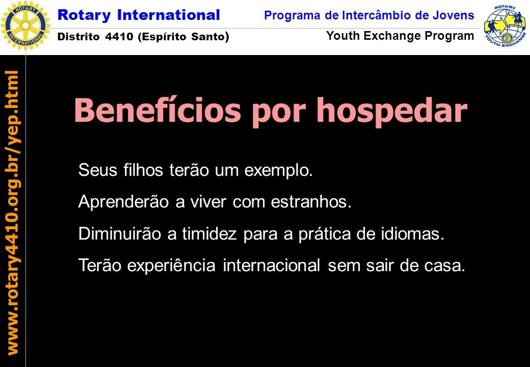 Rotary International Distrito 4410 (Espírito Santo ) Programa de Intercâmbio de Jovens Youth Exchange Program www.rotary4410.org.br/yep.html Seus filh
