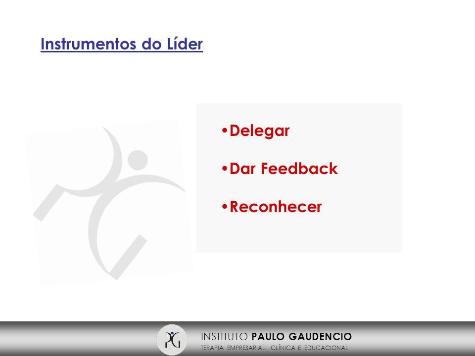 INSTITUTO PAULO GAUDENCIO TERAPIA EMPRESARIAL, CLÍNICA E EDUCACIONAL Instrumentos do Líder Delegar Dar Feedback Reconhecer