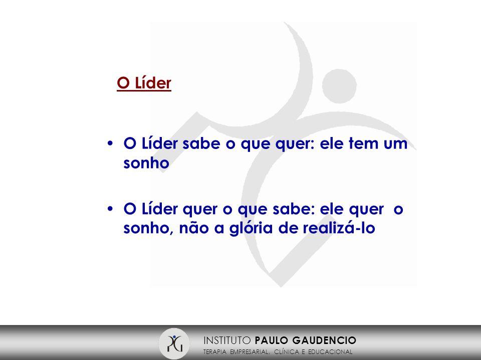 INSTITUTO PAULO GAUDENCIO TERAPIA EMPRESARIAL, CLÍNICA E EDUCACIONAL Características do Líder Saber ouvir Humildade Integridade