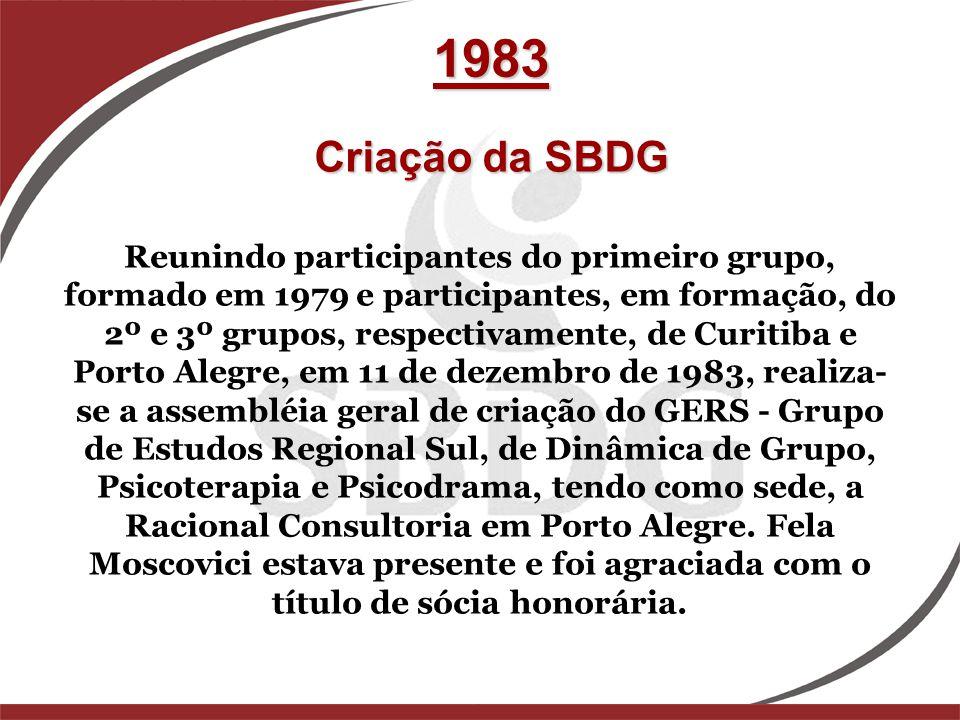 Reunindo participantes do primeiro grupo, formado em 1979 e participantes, em formação, do 2º e 3º grupos, respectivamente, de Curitiba e Porto Alegre