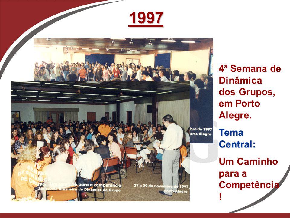 1997 4ª Semana de Dinâmica dos Grupos, em Porto Alegre. Tema Central: Um Caminho para a Competência !