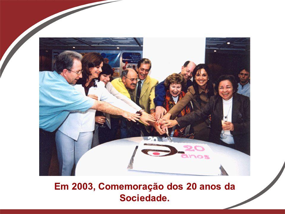 Em 2003, Comemoração dos 20 anos da Sociedade.