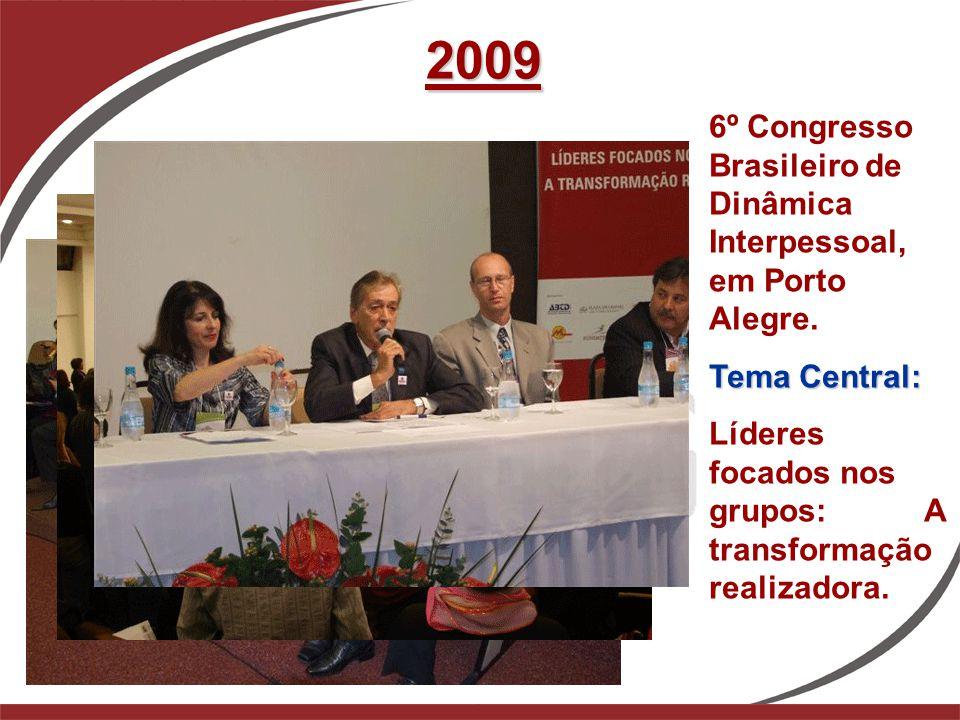 2009 6º Congresso Brasileiro de Dinâmica Interpessoal, em Porto Alegre. Tema Central: Líderes focados nos grupos: A transformação realizadora.