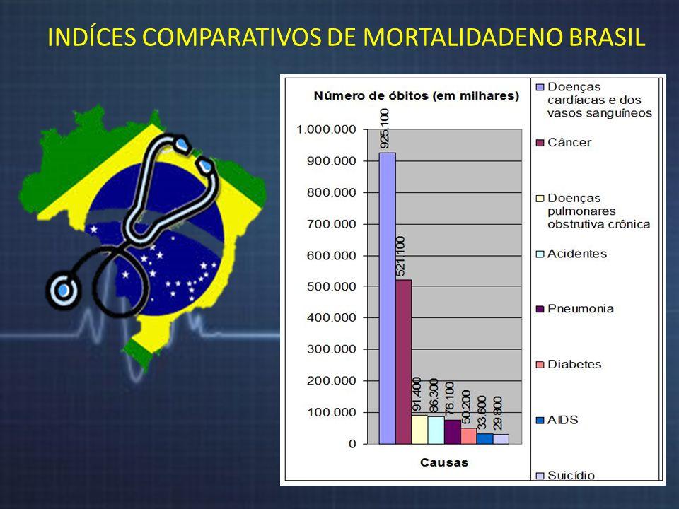 INDÍCES COMPARATIVOS DE MORTALIDADENO BRASIL