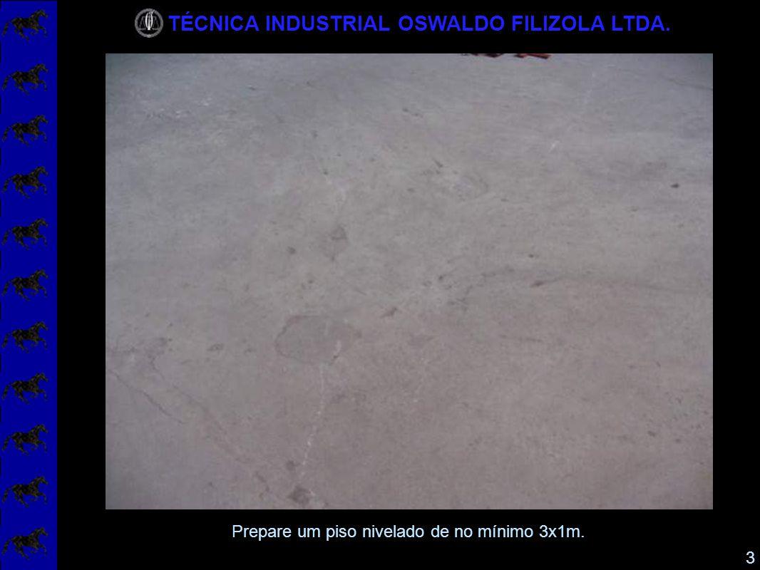 TÉCNICA INDUSTRIAL OSWALDO FILIZOLA LTDA. 4 Coloque a plataforma com os pés no local.