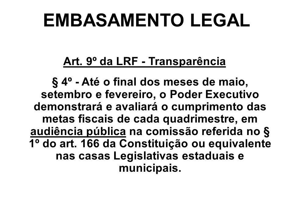 EMBASAMENTO LEGAL Art.