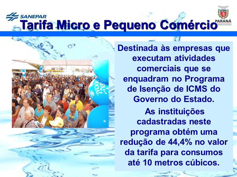18 Destinada às empresas que executam atividades comerciais que se enquadram no Programa de Isenção de ICMS do Governo do Estado. As instituições cada