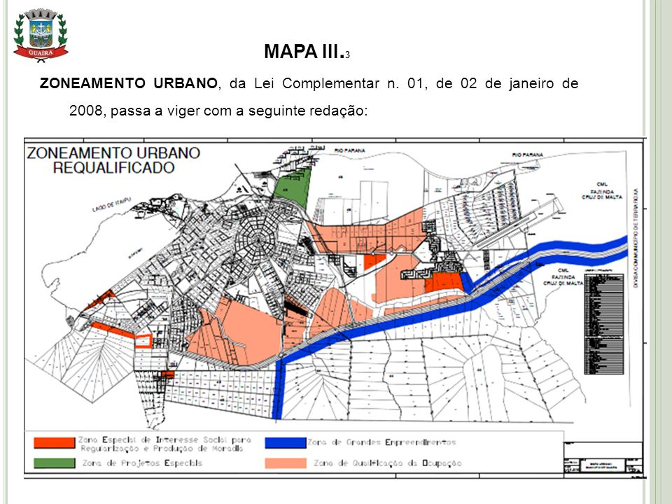 17 MAPA III.3 ZONEAMENTO URBANO, da Lei Complementar n.
