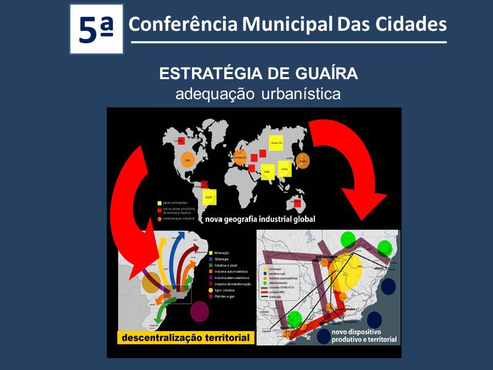 Conferência Municipal Das Cidades 5ª ESTRATÉGIA DE GUAÍRA adequação urbanística
