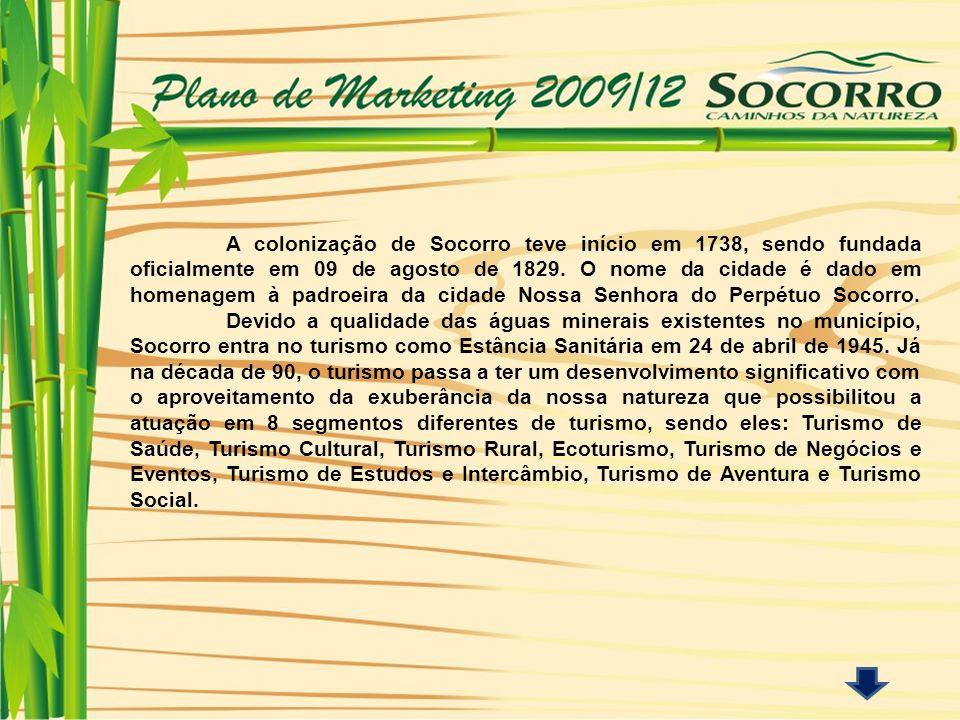 A colonização de Socorro teve início em 1738, sendo fundada oficialmente em 09 de agosto de 1829.