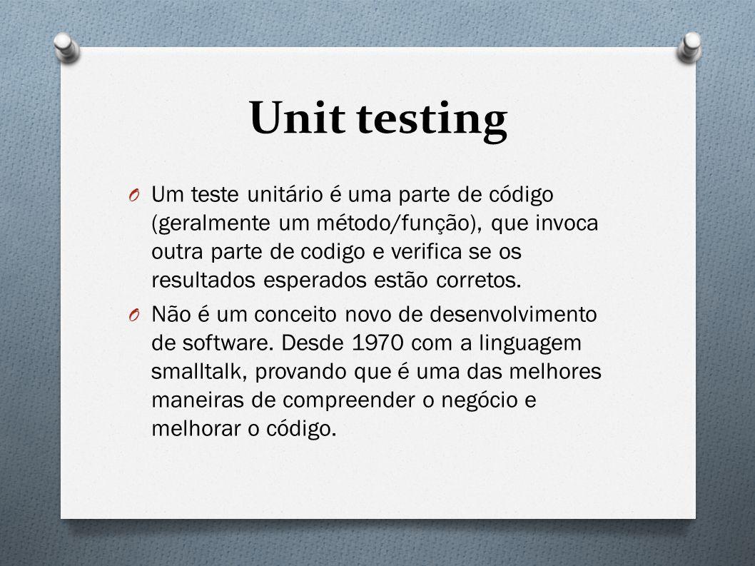 The importance of writing good unit tests O Para obter o sucesso na arte de teste unitário, não basta apenas ter a definição conceitual, mas devemos descrever as propriedades de um bom teste.