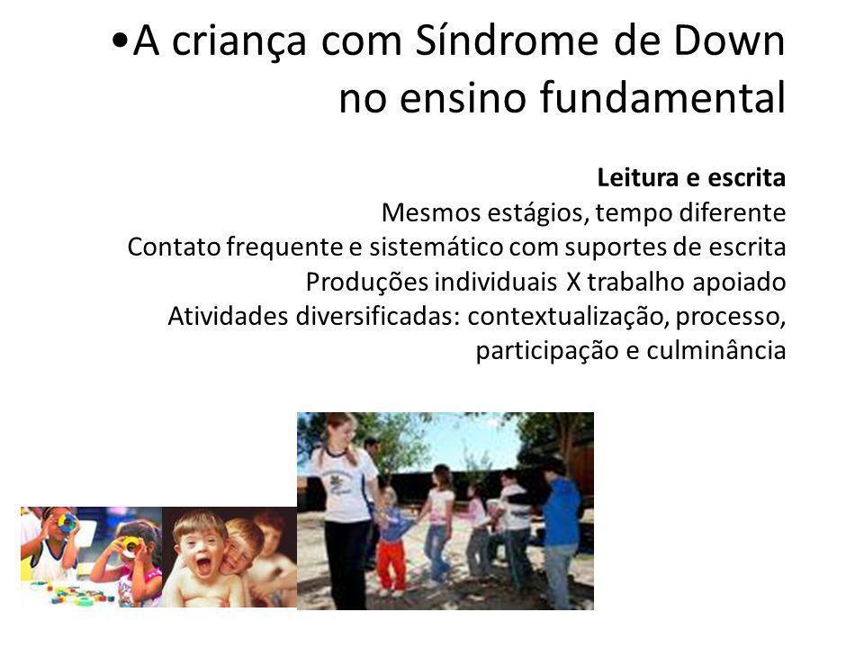 A criança com Síndrome de Down no ensino fundamental Conceitos matemáticos Onde está o número.