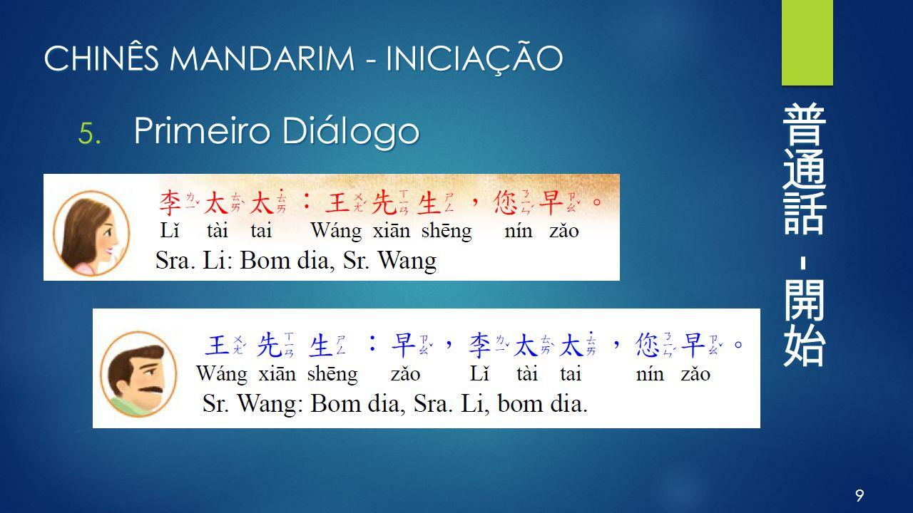 CHINÊS MANDARIM - INICIAÇÃO 5. Primeiro Diálogo 9