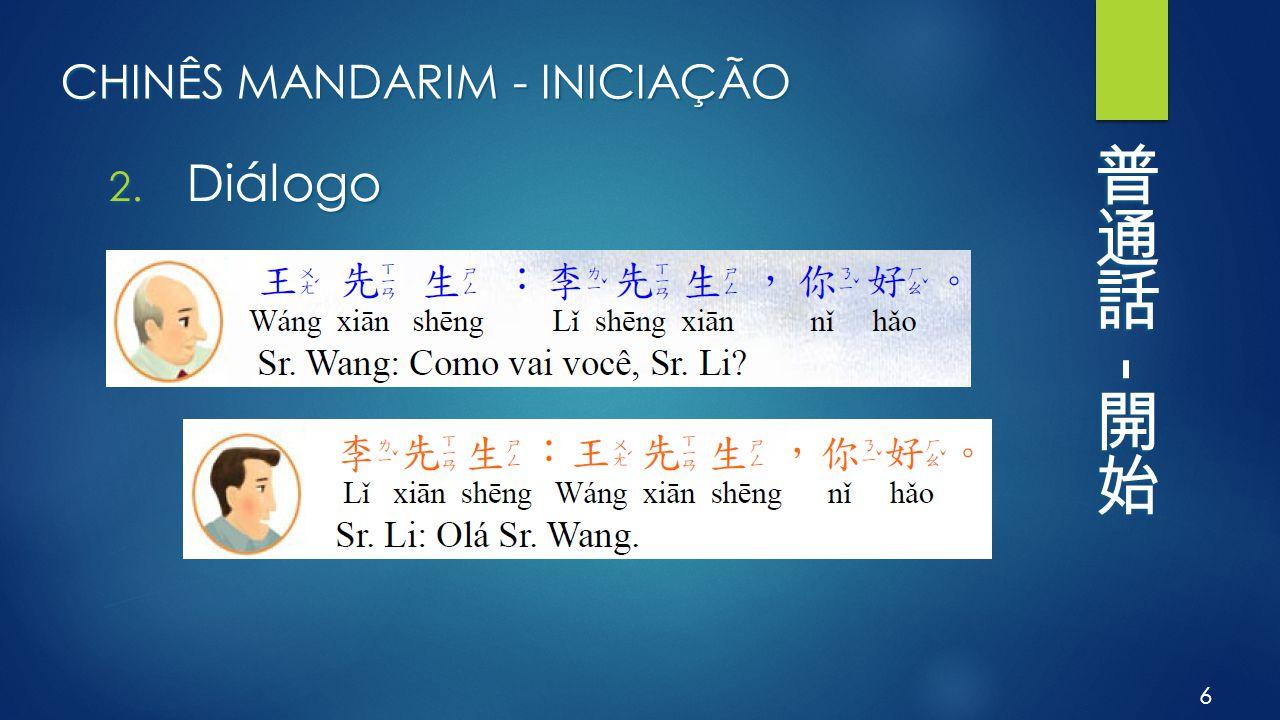 CHINÊS MANDARIM - INICIAÇÃO 2. Diálogo 6