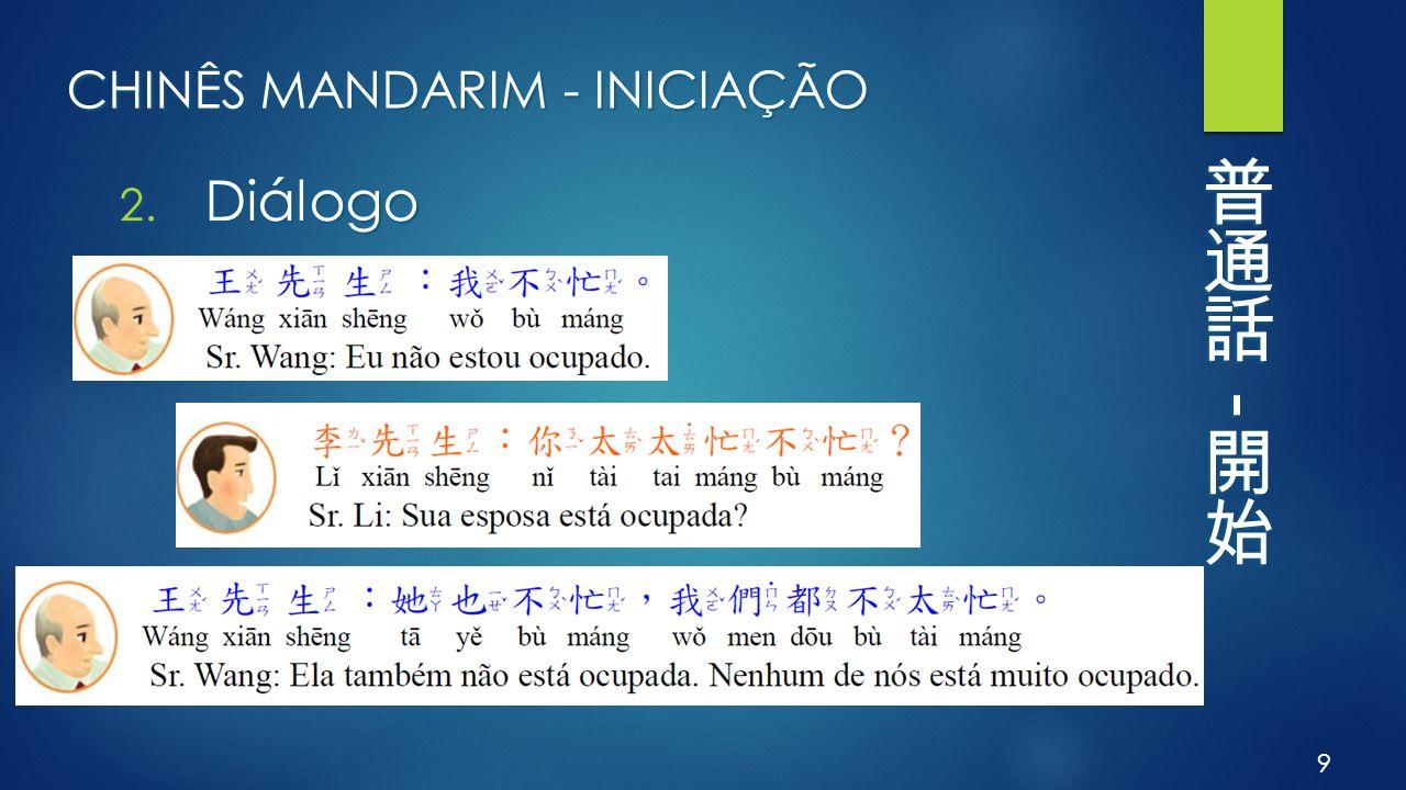 CHINÊS MANDARIM - INICIAÇÃO 2. Diálogo 9