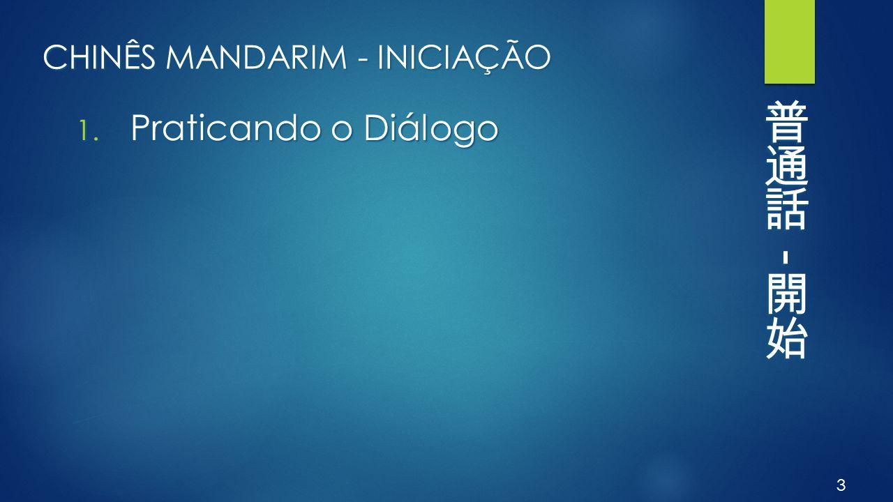 CHINÊS MANDARIM - INICIAÇÃO 2. Novo Diálogo 4