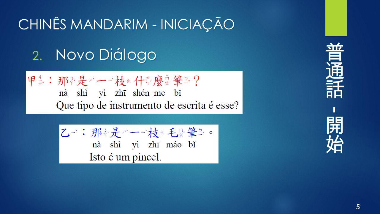 CHINÊS MANDARIM - INICIAÇÃO 2. Novo Diálogo 5
