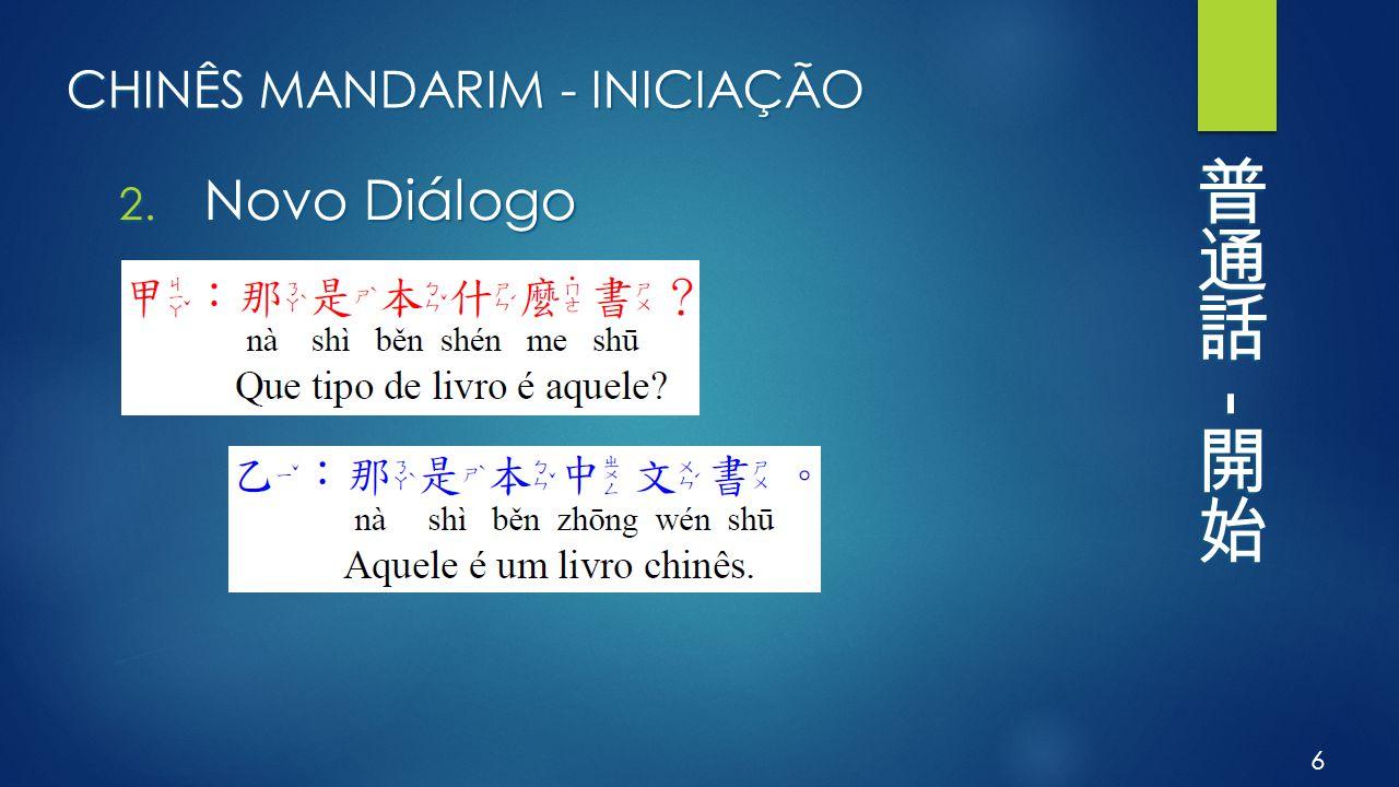 CHINÊS MANDARIM - INICIAÇÃO 2. Novo Diálogo 6