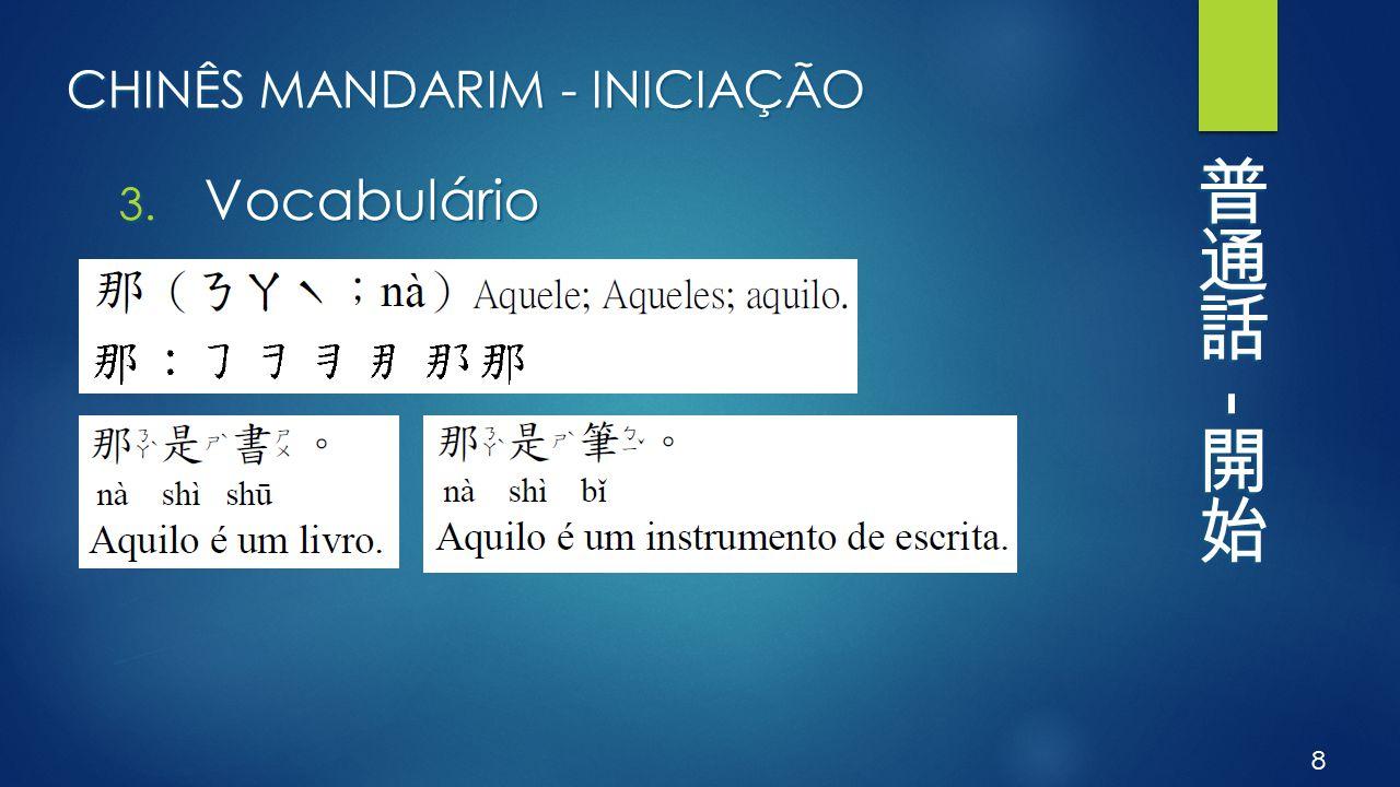 CHINÊS MANDARIM - INICIAÇÃO 3. Vocabulário 8